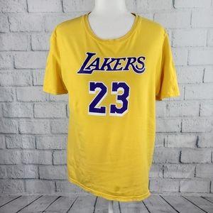 NBA Lakers 23 - yellow short sleeves tee